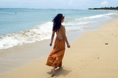 romantyczny denny spacer Zdjęcia Royalty Free