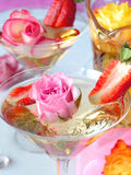 romantyczny drinka zdjęcia stock