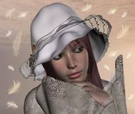 romantyczny dziewczyna portret royalty ilustracja