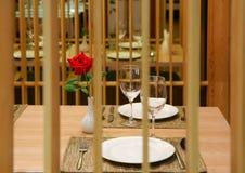 Romantyczny gość restauracji Fotografia Royalty Free