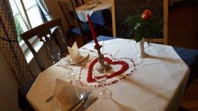 Romantyczny gość restauracji Zdjęcia Stock