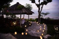 Romantyczny gość restauracji ustalony Bali Obrazy Stock