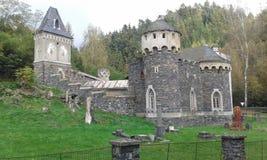 Romantyczny grodowy Kunzov, Olomouc region, republika czech (górska chata) Zdjęcie Royalty Free