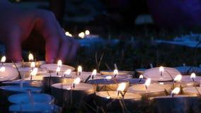 Romantyczny i emocjonalny dekoracyjny niespodzianki świeczki światło zbiory