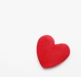 Romantyczny karty St walentynki ` s dzień Czerwony serce i deklaracja miłość Zdjęcia Stock