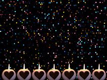Romantyczny kolorowy Bożenarodzeniowy tło z świeczkami zdjęcie royalty free