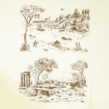Romantyczny krajobraz Obrazy Royalty Free