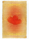 Romantyczny kwiecisty rocznika papier fotografia stock