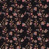 Romantyczny kwiecisty tło z kwiatami i ptakami. Zdjęcia Stock