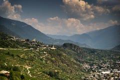Romantyczny Lombardy krajobraz Obrazy Stock