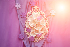 Romantyczny miłości tło Jaskrawy nowożytny w ten sam czasu tle i (rówieśnik) Zdjęcie Royalty Free