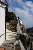 Romantyczny miejsce w Iznajar, Andalucia; Hiszpania Fotografia Stock