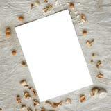 Romantyczny mockup na nieociosanym brezentowym tle Obrazy Royalty Free