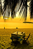 romantyczny na zachód słońca Zdjęcia Stock