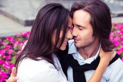 Romantyczny pary przytulenie Zdjęcie Royalty Free