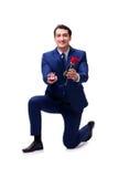 Romantyczny pojęcie z mężczyzna robi małżeństwo propozyci Obrazy Royalty Free