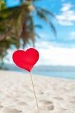 Romantyczny raj na tropikalnej plaży zdjęcia royalty free