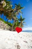 Romantyczny raj na tropikalnej plaży obraz royalty free