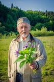 Romantyczny starszy mężczyzna Fotografia Stock