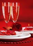 Romantyczny stołowy położenie Obrazy Royalty Free