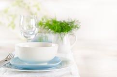 Romantyczny stołowy ustawianie dla dwa Fotografia Stock