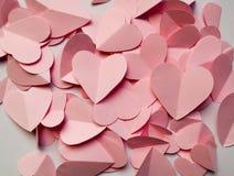 Romantyczny tło różowi serca Zdjęcie Stock