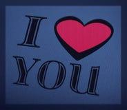 Romantyczny tło z kocham ciebie tekst Obrazy Stock