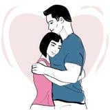 Romantyczny uściśnięcie ilustracji