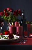 Romantyczny walentynka stołu położenie zdjęcia stock