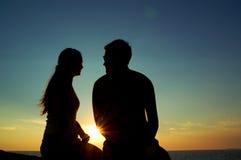 Romantyczny wschód słońca Zdjęcia Stock