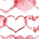 Romantyczny wzór z sercami royalty ilustracja