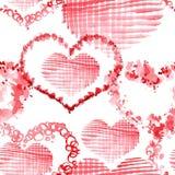 Romantyczny wzór z sercami ilustracja wektor
