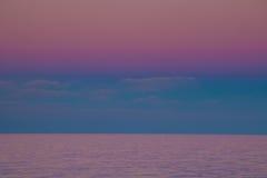 Romantyczny zmierzch na Adriatic morzu Fotografia Royalty Free