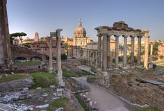 Romanum van het forum in Rome, hdr Stock Afbeeldingen