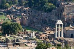 Romanum van het Forum van Rome Stock Fotografie