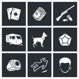 Romany icons. Vector Illustration. Royalty Free Stock Photo