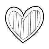 Romanze Leidenschaft der Herzliebe verzieren Streifen stock abbildung