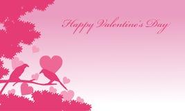 Romanze Vogelhintergründe des Valentinstags vektor abbildung