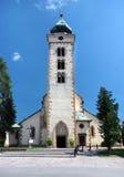 Romare - katolsk kyrka av helgonet Nicolaus Arkivfoton