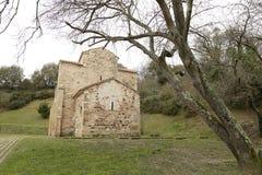 Romare - katolsk kyrka, Oviedo, Spanien Arkivbilder