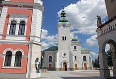 Romare - katolsk kyrka på staden Ruzomberok, Slovakien Royaltyfria Bilder