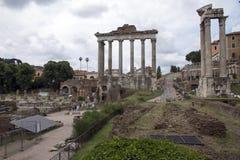 Romerskt fora i Rome, Italien Royaltyfri Bild