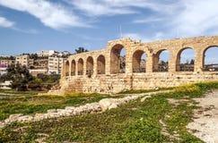 Romaren fördärvar av Jerash Arkivfoto