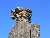 Romaren fördärvar av Mérida Spanien - forntida skatter royaltyfri bild