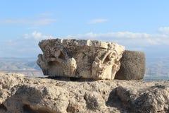 Romaren fördärvar i Beit She ' en nationalpark i Israel Arkivbild
