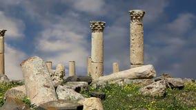 Romaren fördärvar på Umm Qais Umm Qays, Jordanien, Mellanösten stock video