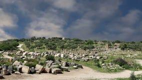 Romaren fördärvar på Umm Qais Umm Qays, Jordanien, Mellanösten lager videofilmer
