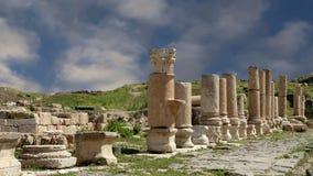 Romaren fördärvar på Umm Qais Umm Qays, Jordanien, Mellanösten arkivfilmer