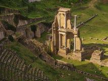 Romaren fördärvar i Voltera, Italien Arkivfoto