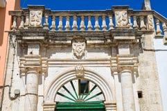 Romasi De Giorgi palace. Taurisano. Puglia. Italy. Stock Photography